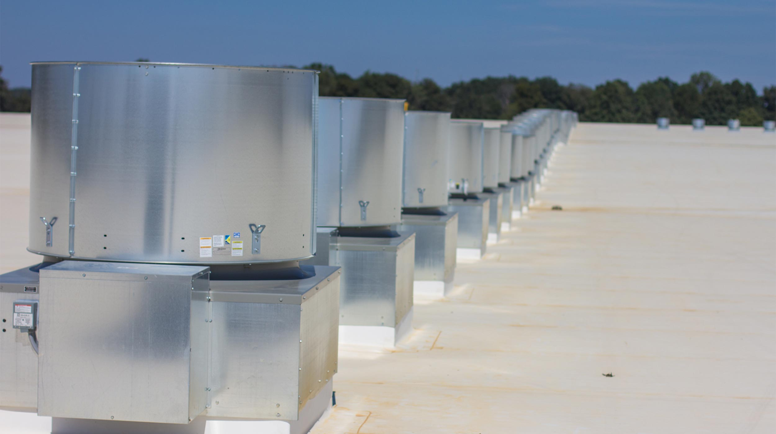 Rooftop units at Academy Sports